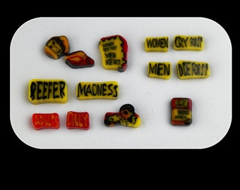 Reefer Madness Set by Greg Chase Murrine Boro Coins - 122