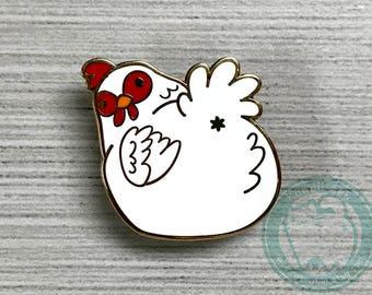 Chicken Hard Enamel Pin