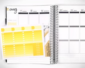 Yellow Ombre Heart Checklist! Perfect for the Erin Condren Life Planner!