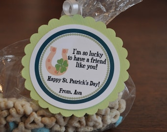 St. Patrick's Day Tags. St. Patricks Day. Gold. Set of 12. Tags. Irish. Lucky. Horseshoe. Clover