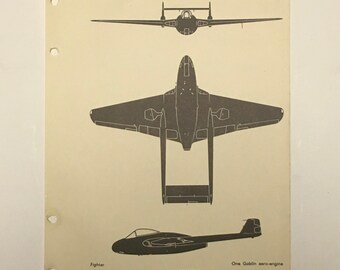 Vampire Mk I - WWII Aircraft Recognition Handbook Illustration