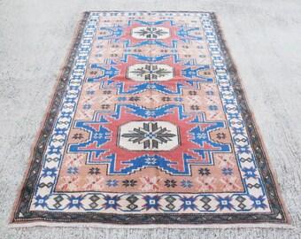 FREE SHIPPING!!! Vintage Oushak Rug, Turkish Rug, Anatolian Rug, Vintage Boho Rug, Oushak Rug,  Persian Rug   176 x 100 cm / 5.7 x 3.2 ft
