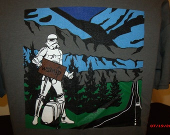 Widedpread Panic Shirt.This is a StormTrooper Leaving the Darkside and Heading for the Good People