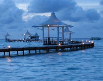 Evening Light, Maldives, A6 Greetings Card