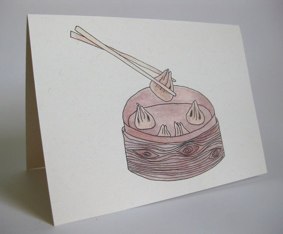 New Baby Greeting Card - Handmade and printed from original ink and gouache illustration