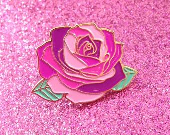 Pink Rose - Enamel Pin