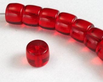 9mm Ruby Drum Bead (12 Pcs) #2745