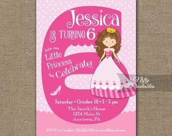 4th birthday princess invitations girls birthday invitation 6th birthday invitations girl birthday invitation princess printable girls 6th birthday party 6 filmwisefo