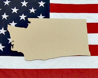 Washington State Unfinished Wooden Shape, Paintable Wooden Craft
