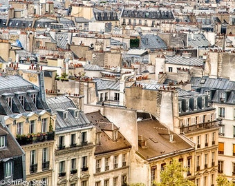 Paris Photography, Paris Rooftops, Colours of Paris, Ready to Frame, Beautiful Giclee Print, Perfect for any decor