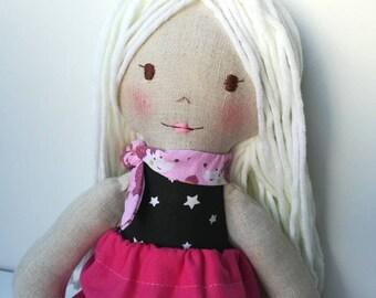 Sibyl: Cloth doll, handmade doll, decorative doll, custom doll, Doll, heirloom, doll cloth doll, rag doll