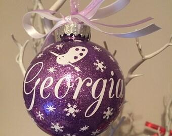 Art themed Christmas Bauble