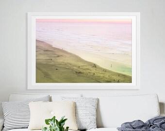 Large Beach Photography // Aerial Beach Photography // Minimalist Beach Photography for a Modern Home // Large Living Room Art / Beach Print
