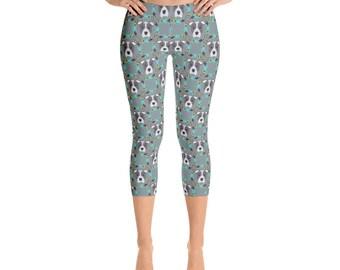 Pitbull Capris - Women's Capri Leggings - Capri Pants - Pitbull Leggings- Leggings - Dog leggings - Women's Leggings - fun pants - pitbull