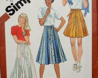 Simplicity 5480 Misses' Skirt Vintage Sewing Pattern New/Uncut Size 14