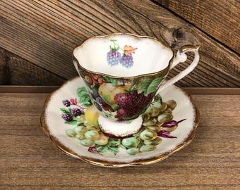 Royal Standard Fruit Teacup & Saucer