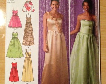 Simplicity Sewing Pattern 2440 Misses/Miss Petite Evening Dress Size 12-20