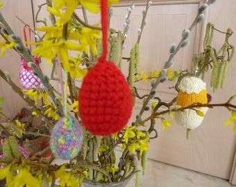 Red crochet Easter egg