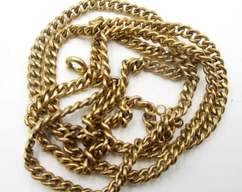 "Vintage 1970's gold filled chain 26"" L"