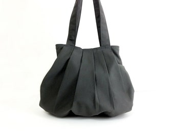 Handbags Canvas Bag Shoulder bag Hobo bag Handbags Tote bag Purse Everyday bag Double Straps  Dark Gray  Grace