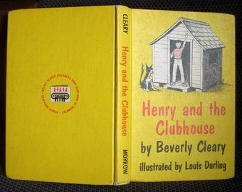 Henry and the Clubhouse, Beverly Cleary, Vintage Children's Hardcover Book 1962, Henry Huggins, Weekly Reader Book Club