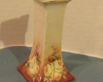 Handpainted Square Vase