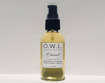 Cleansing Oil|Organic|Emulsifying Oil|Makeup Remover|Natural|Vegan|Deep-Cleansing|Non-Greasy Feel|Washes Clean|Oil Cleansing|Soap-Free
