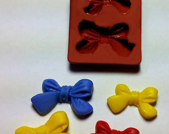 2 BOWS FOR FIMO SCULPEY PLASTER RESIN SILICONE MOULD