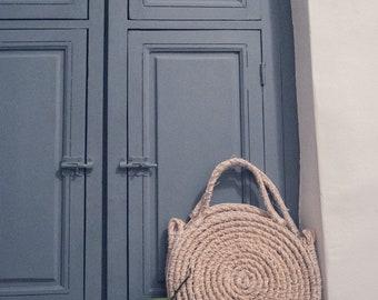 Straw Bag - Round Straw Bag - Straw Handbag - Sisal Bag - Sisal Market Bag - Crochet Bag - Beach Bag - Boho Bag - Hello Regly Nina Bag