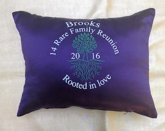 Custom family reunion pillow