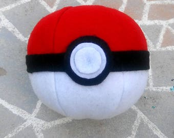 Pokemon inspired pokeball plushie stuffed felt toy for ash ketchum cosplay costume halloween