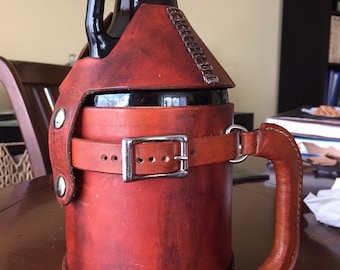 PATTERN for Leather Growler Holder and Beer Cooler, 64 oz
