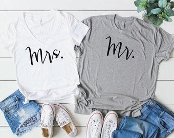 Mr and Mrs Shirts. Couples Shirts. Mr Mrs Shirts. His and Her Shirts. Honeymoon Shirts. Wedding Shirts. Hubby Shirt. Wifey Shirt. Hubby Tee