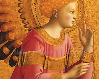 """Fra Angelico """"Annunciatory Angel"""" c1446 Reproduction Digital Print"""