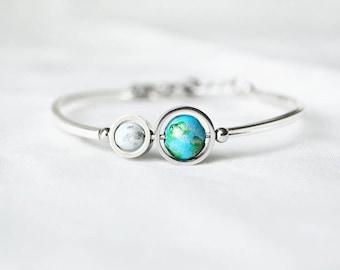 Baby blue Earth Moon Bangle