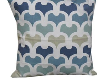 """Pembury Cushion 16 X 16"""" Cushion Cover Chain Arch Design Colonial Blue"""