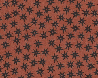 Lecien Quilt Fabric - Inkwell - Inky Stars - Charcoal Pumpkin - 100% Cotton - 30524-40 -  By the Bolt