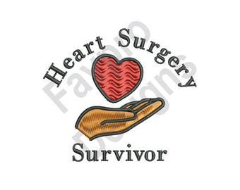 Heart Surgery Survivor - Machine Embroidery Design