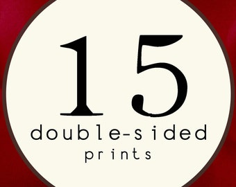 15 PRINTS - DOUBLE SIDED Printed Invitations Cards - 91891186
