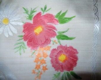Damask Tablecloth, Beautiful Vintage Floral Damask Tablecloth, Wedding Tablecloth, Retro Tablecloth, Vintage Floral, Tearooms, Cafe