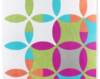Picnic Petals Whole Circle Studio Paper-Piecing Quilting 3 Sizes Quilt Pattern Sewing MODERN Minimalism Sheri Cifaldi-Morrill