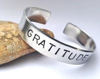 GRATITUDE-  Cuff Bracelet