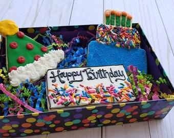 Birthday Box Cookies