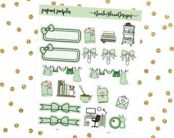 Seafoam Sampler, Bow Planner Stickers