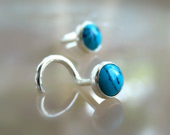 Blue Turquoise Nose Stud - Turquoise Nose Piercing