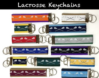 LACROSSE Custom Keychain Custom Color Lacrosse Key Fob Team Gift Lacrosse Team Keychain Lacrosse Coach Lacrosse Mom Lacrosse Gift Customized