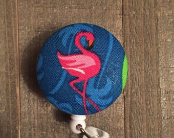 Flamingo Badge Reel - Pink Flamingo - Summer - ID Badge Holder - Name Badge - Nurse Badge - RN Badge