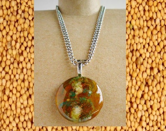 Abstract Art Mustard Seed necklace