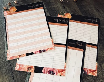 Master Home Planning Dashboard SET, Household Planner, Household Binder, Chore Dashboard, Household Schedule, Daily Planner, To Do List