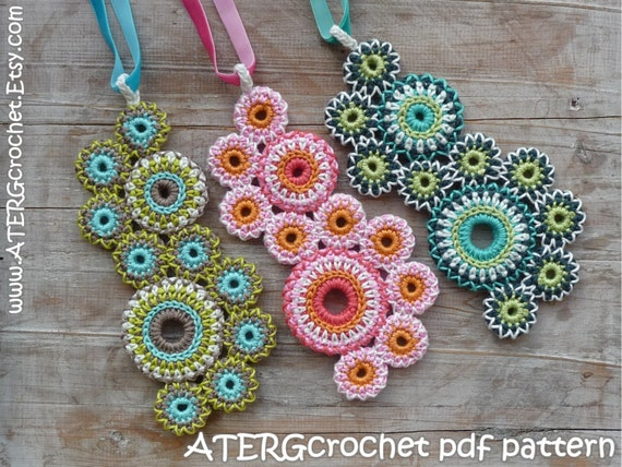 Crochet pattern NECKLACE \'circles of life\' by